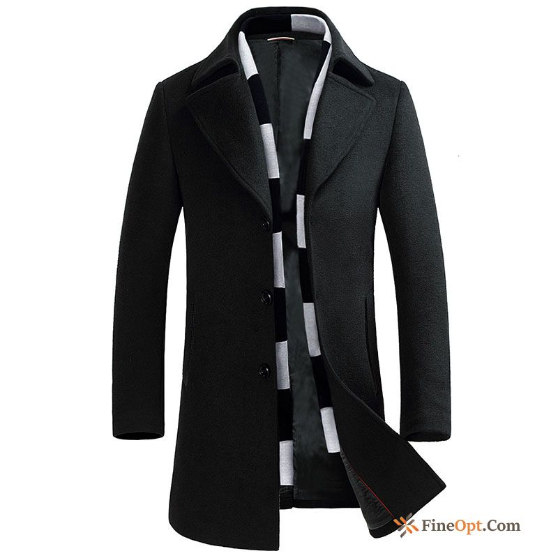 Coat Winter New Long Wool British Men's Coat Discount