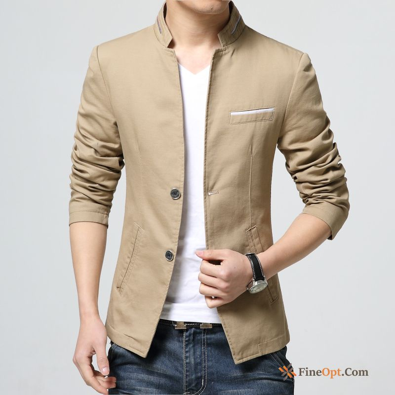 Coat Youth Men's Slim Spring Stand Collar New Jacket Sale