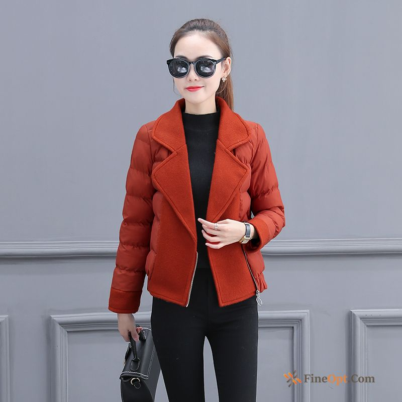 Cotton Anti-season New Cotton-padded Winter Red Short Cotton Coat