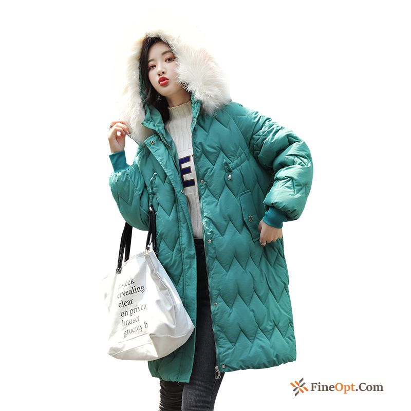 Cotton Wave Long Europe New Cotton-padded Loose Cotton Coat