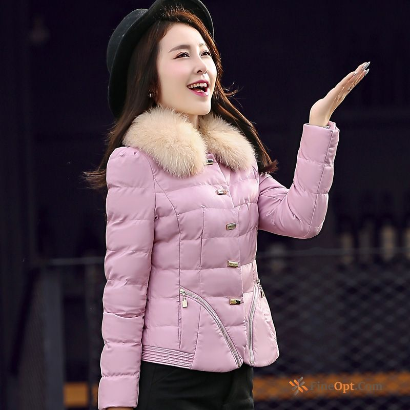 Cotton-padded Pu Temperament Leather Cotton Winter Coat Violet Jacket Sale