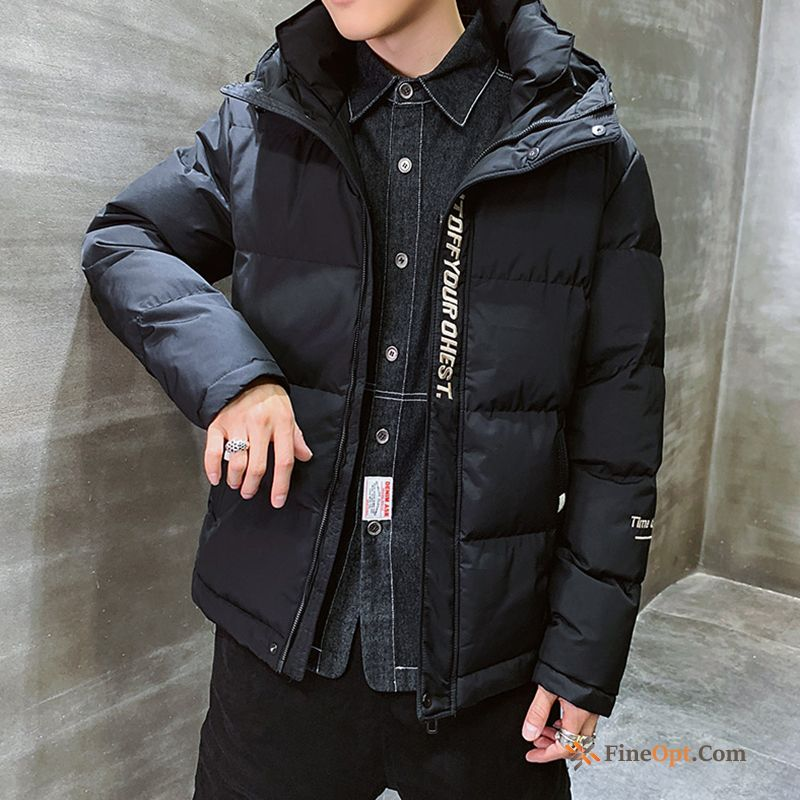 Cotton-padded Thickening New Cotton Black Trend Brand Europe Cotton Jacket Discount