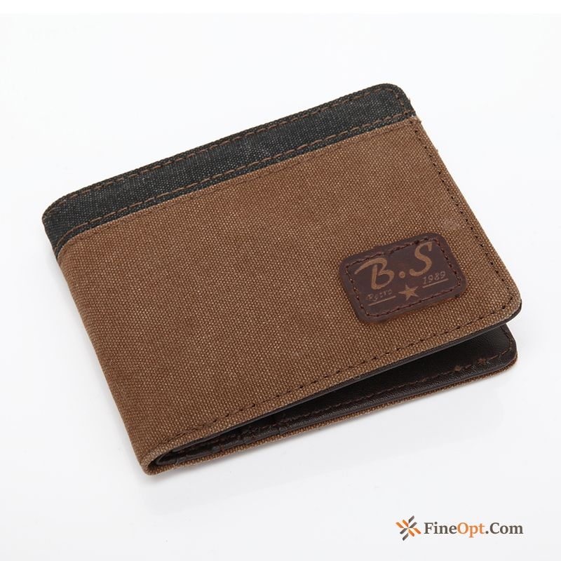 Cross Section Student Wallets Canvas Leisure Men Women For Sale