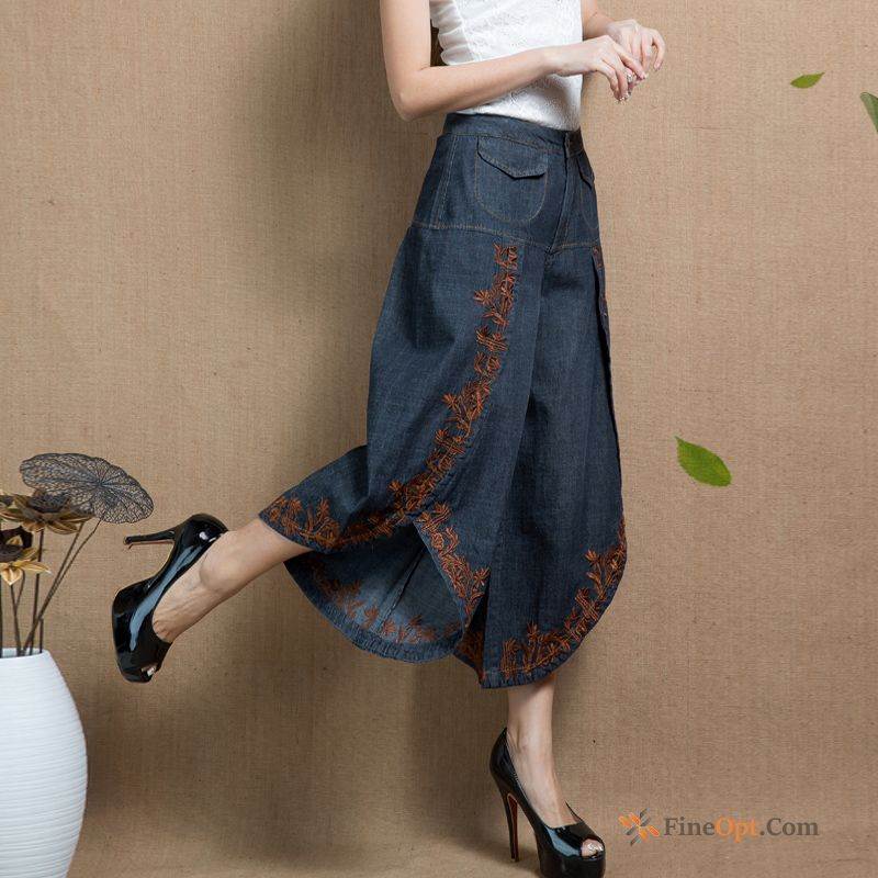 Denim New Embroidered Big Spring All-match Pants Sienna Jeans