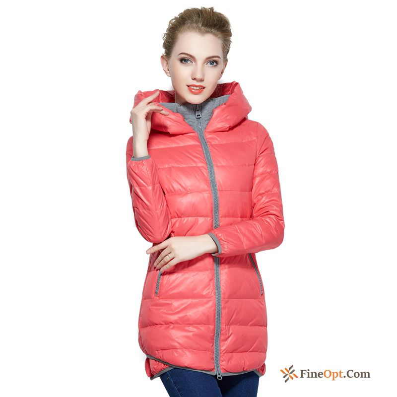 Down Jacket Lady Trend Slim Long Winter Clothes Knitting Sale