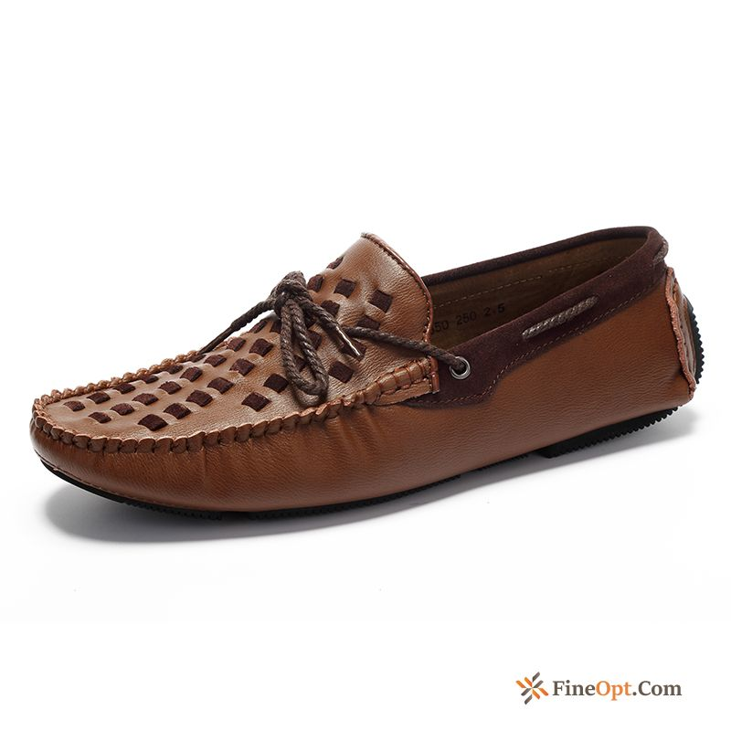 Driving Shoes Casual Men's Weaving New Trend Spring Loafers