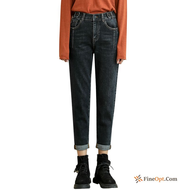 Elastic Loose Pants New Red Pants Autumn Wheat Jeans Sale