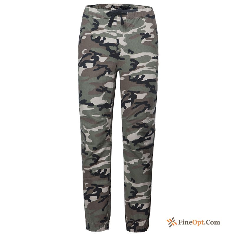 Elastic Trend Winter Clothes Leisure Legs Student Camouflage Pants Sale