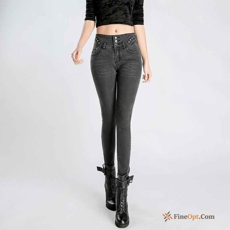 Elasticity Personality Trousers Jeans Skinny Autumn Trend