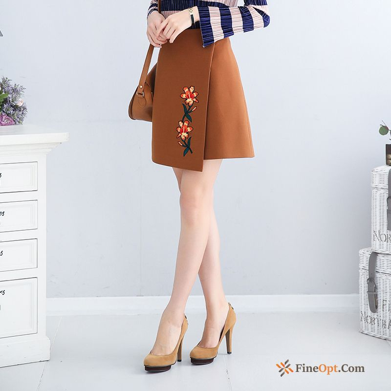 Embroidery Skirts Europe Spring Short Skirt New Skirts Discount