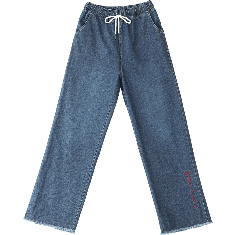 Europe Jeans Pants Student Girl Blue Loose Discount