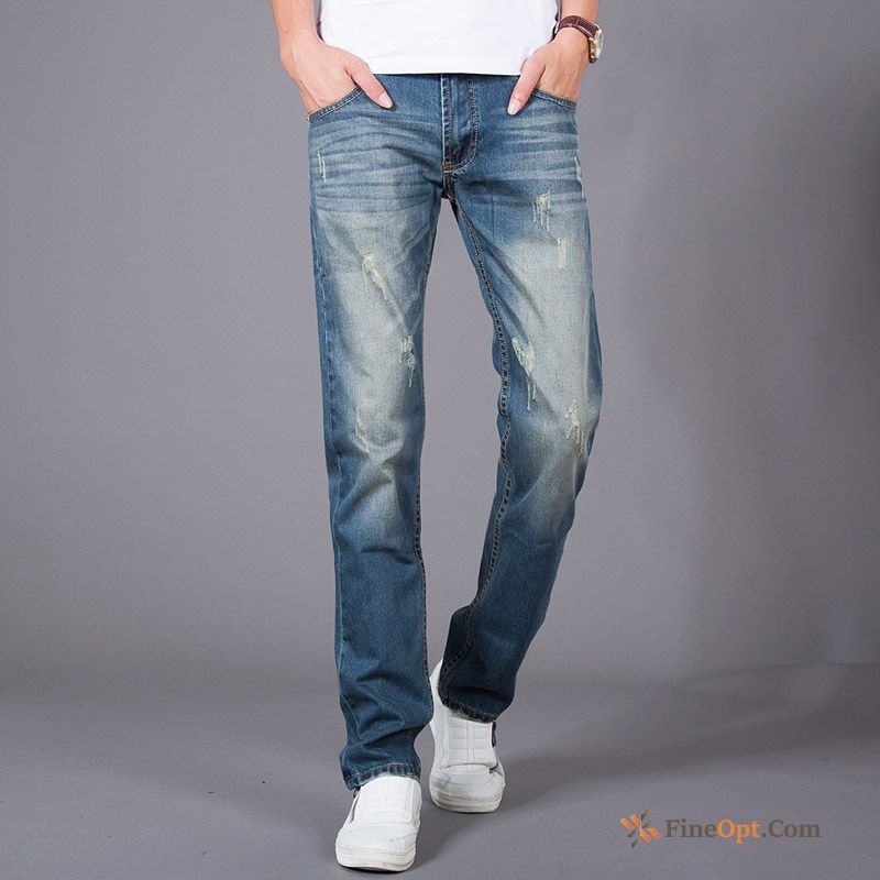 Europe Skinny Men's Straight Spring Retro Nostalgic Jeans