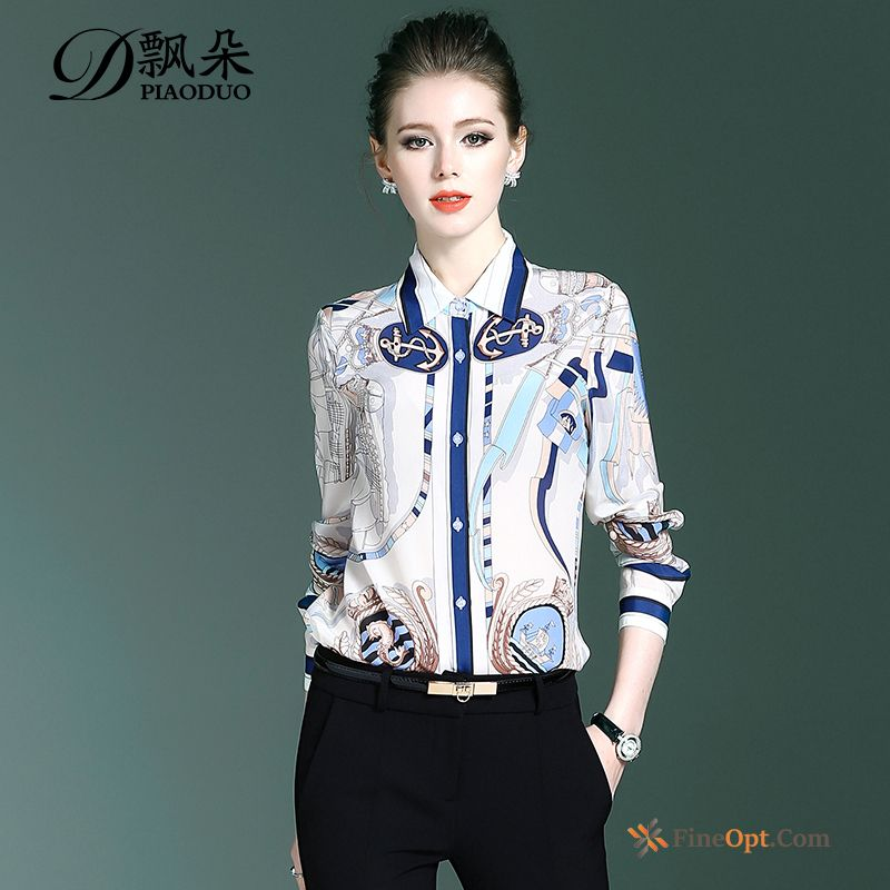 Fashion Europe Silk Loose Silk Blouse New Blouse For Sale