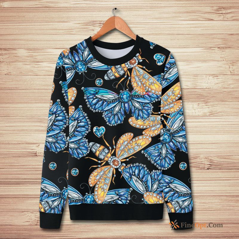 Fashion Hoodies Flower New Winter Butterfly Peacock Hoodies