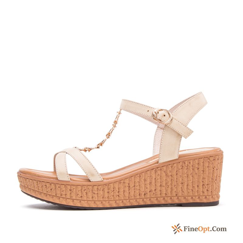 Fashion Open Toe Summer Sandals Wedges Thick Sole New Sandals