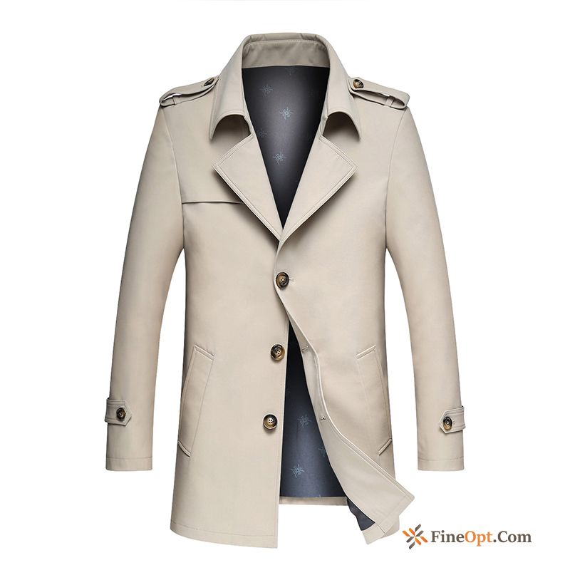 Fashion Youth Overcoat Men's Skinny Long New Coat