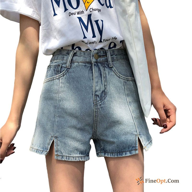 Fat Europe Loose Light Blue Hot Pants New Trend Shorts Online
