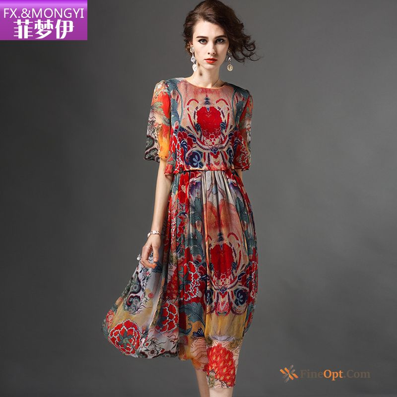 Flower Shorts Long Skirt Slim New Summer Printing Dress