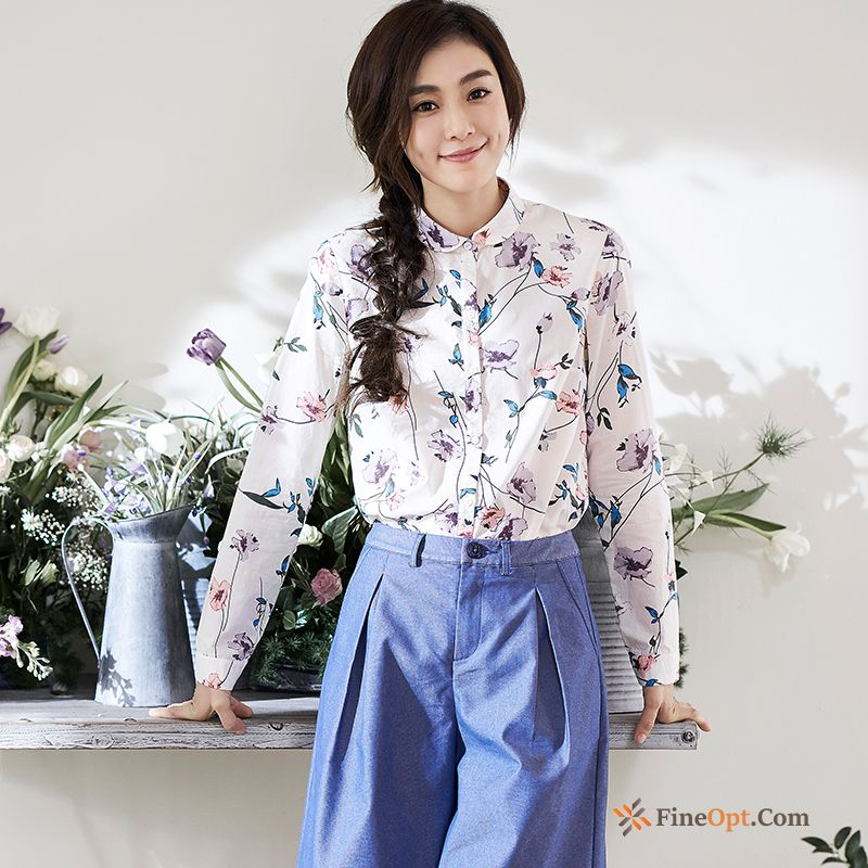 Fresh Pure Literature Art New Long Sleeves Spring Blouse Blouse For Sale