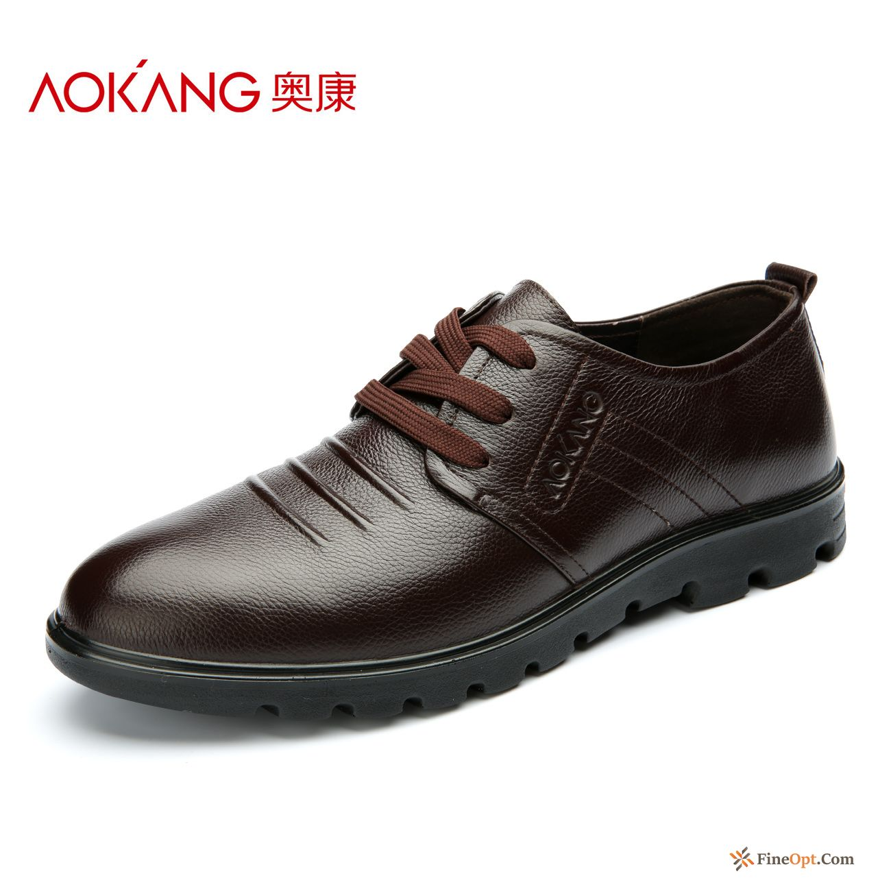 Genuine Leather All-match Lace-up Leather Shoes Youth Casual Spring Discount