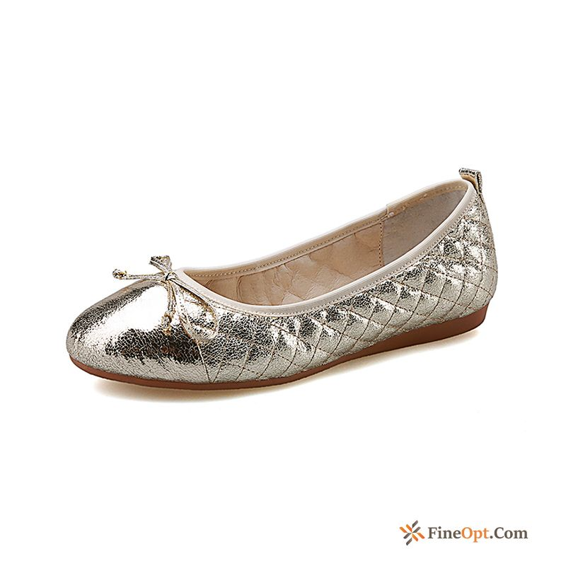 Gold Spring Pumps All-match Silver Flat New Loafers
