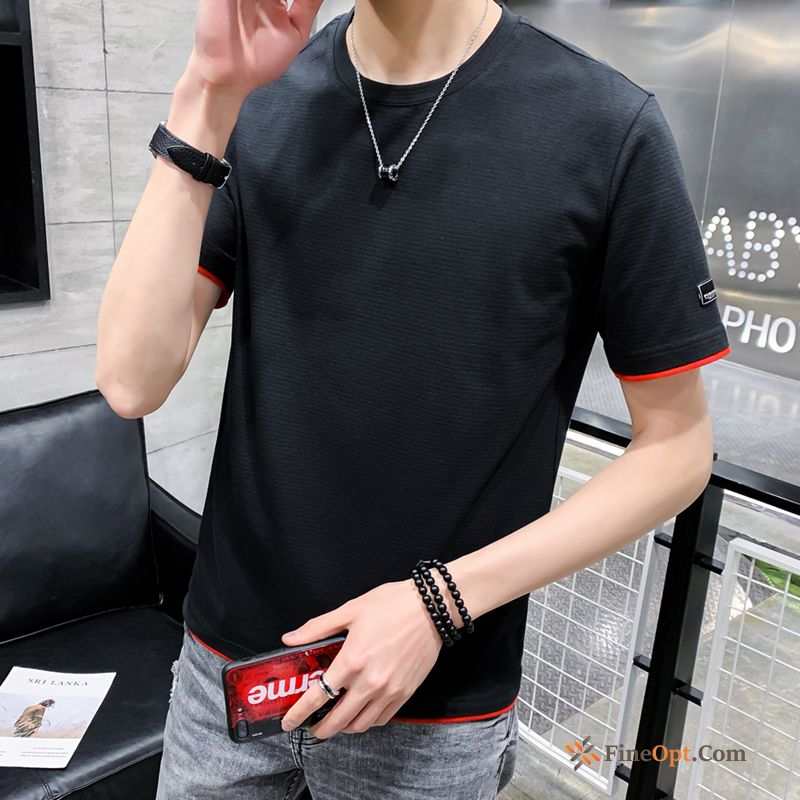 Half Sleeve Europe Trend Brand Lovers Loose Cotton Men's T-shirts For Sale