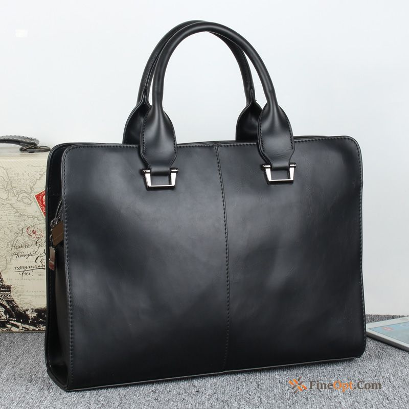 Handbag Messenger Bag Black Men Business Men's Fashion For Sale