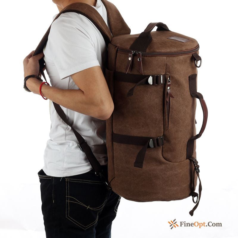 High Capacity Backpack Retro Trend Outdoor Canvas Travel Bag Backpack