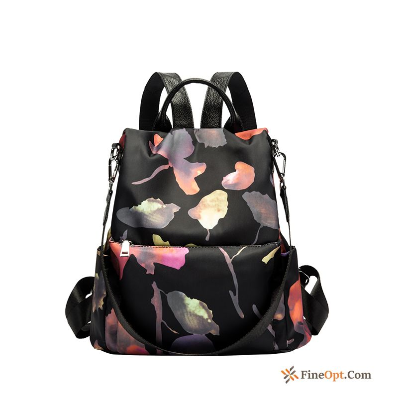 High Capacity Canvas Travel Oxford Anti-theft Printing Women Backpack Discount