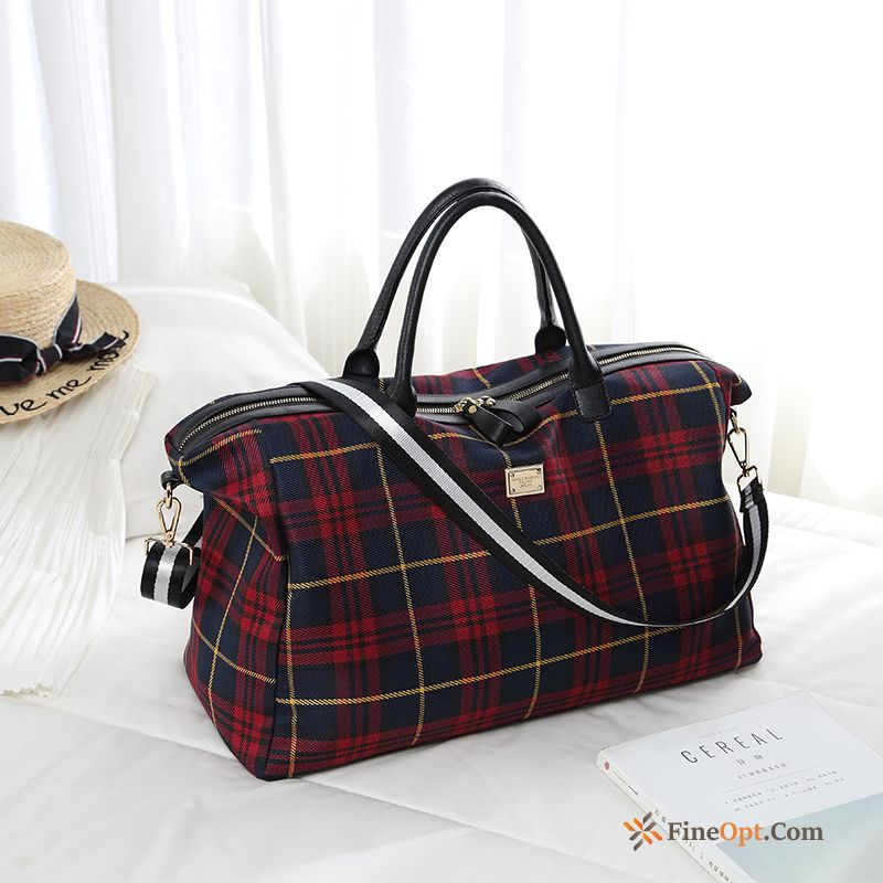 High Capacity Red Tourism Travel Bag Men's Light Luggage Travel Bag