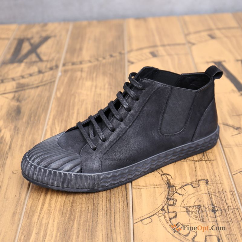 High Top Men's Retro Trend Genuine Leather Fashion Winter Boots