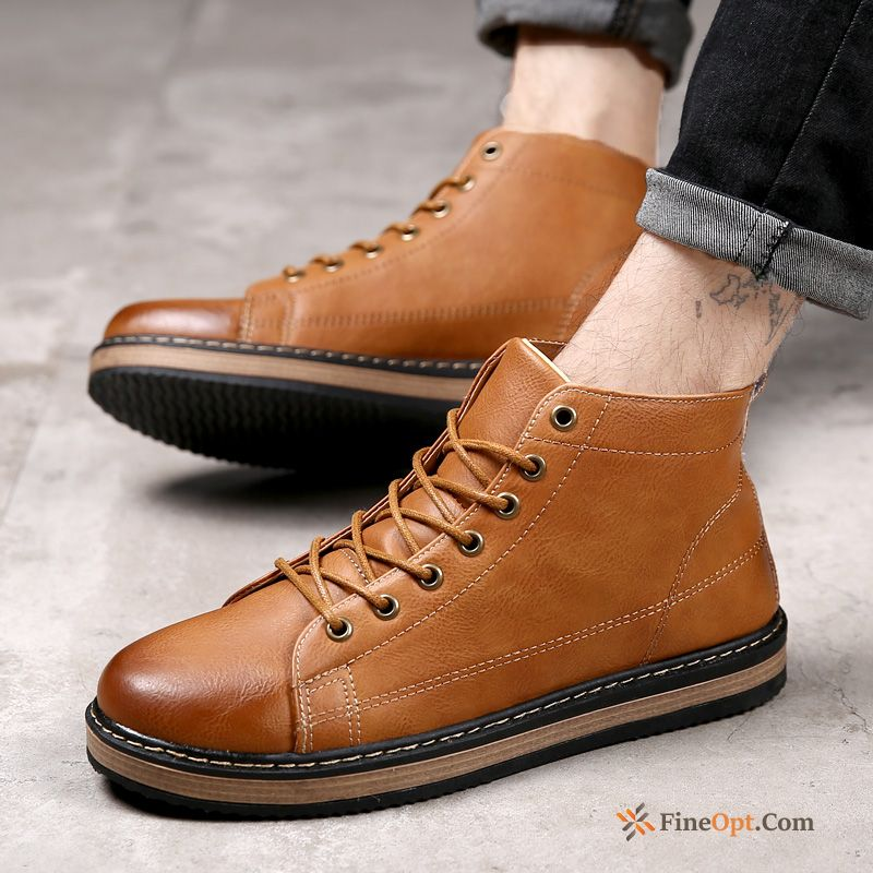High Top New British Winter Men's Short Boots Trend Boots