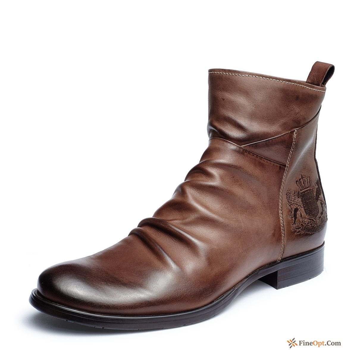 High Top Trend Men's Boots Short Boots British Retro Online