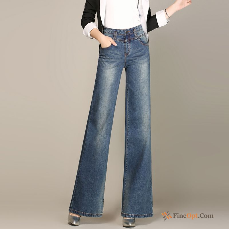 High Waist Loose Straight Big Trousers Large Size Pants Jeans Sale