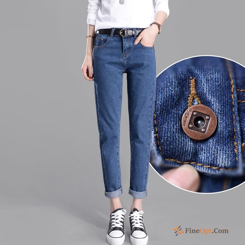 High Waist Thin Loose Student New Autumn Pants Jeans Sale
