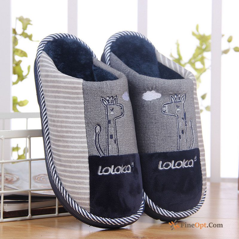 Indoor Lovely Winter Lovers Thick Sole Home Thermal Slippers