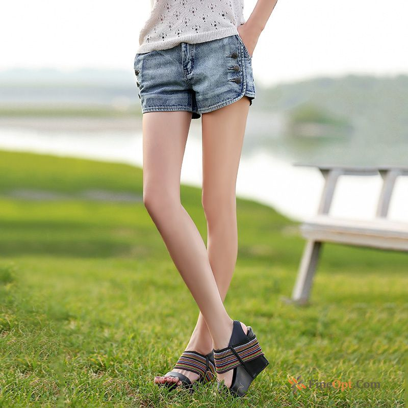 Jeans White Summer New Leisure Short Pants Retro
