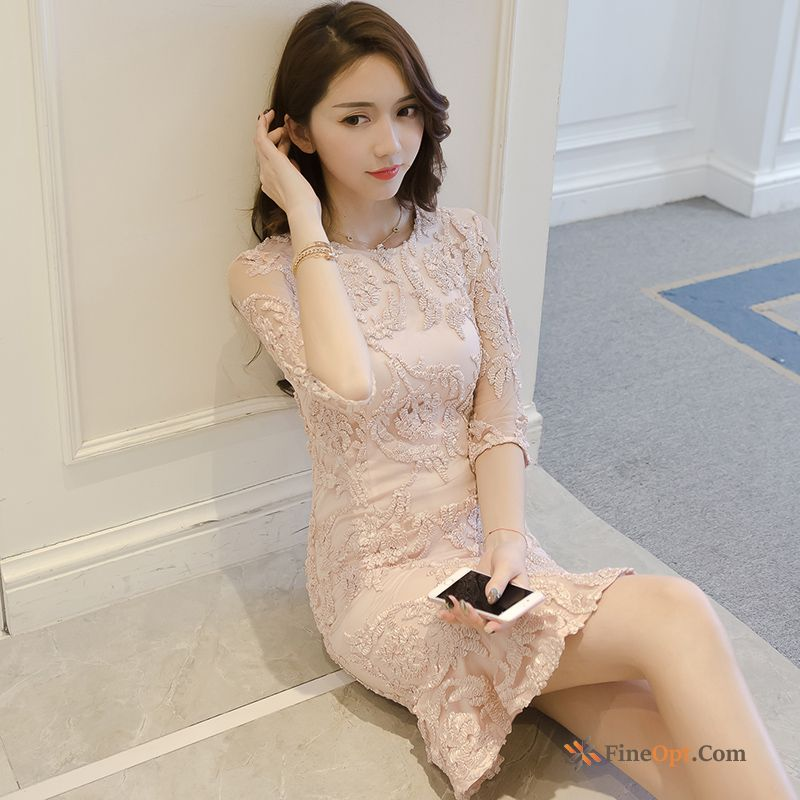 Lace Fishtail Spring Fashion Temperament Slim Europe Dress Online