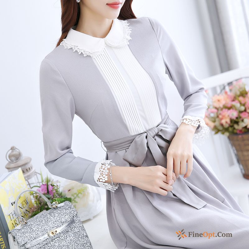 Lace Spring Long Europe Trend Slim New Plum Dress
