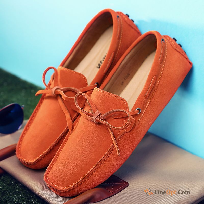 Lace-up Spring Loafers Genuine Leather Causal Shoes Trend Men's Online