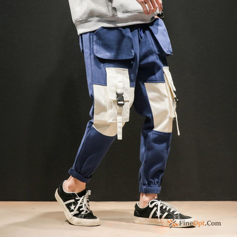 Large Size Cargo Harlan Pants Spring Pants Blue Cargo Pants For Sale