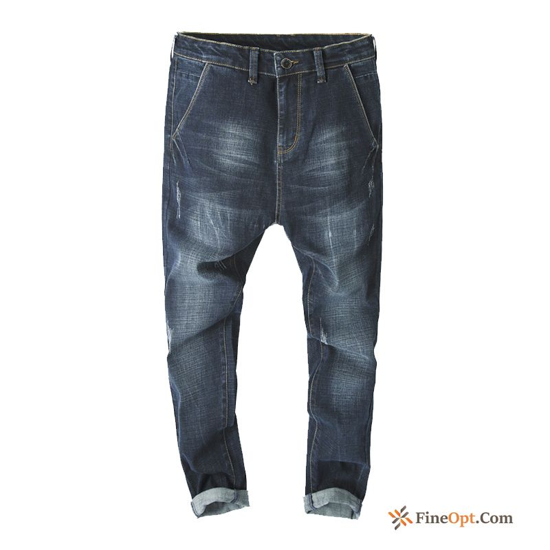 Large Size Men's Summer Europe Loose Harlan Fatty Jeans Discount