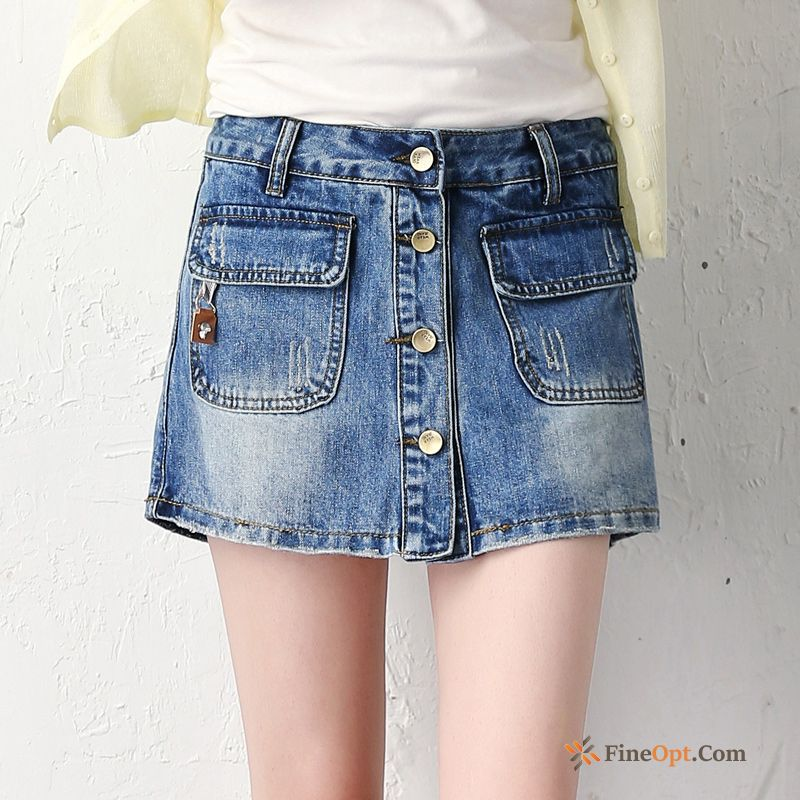 Large Size Thin Summer Middle Waisted New Hot Pants Europe Darkkhaki Skirts Discount