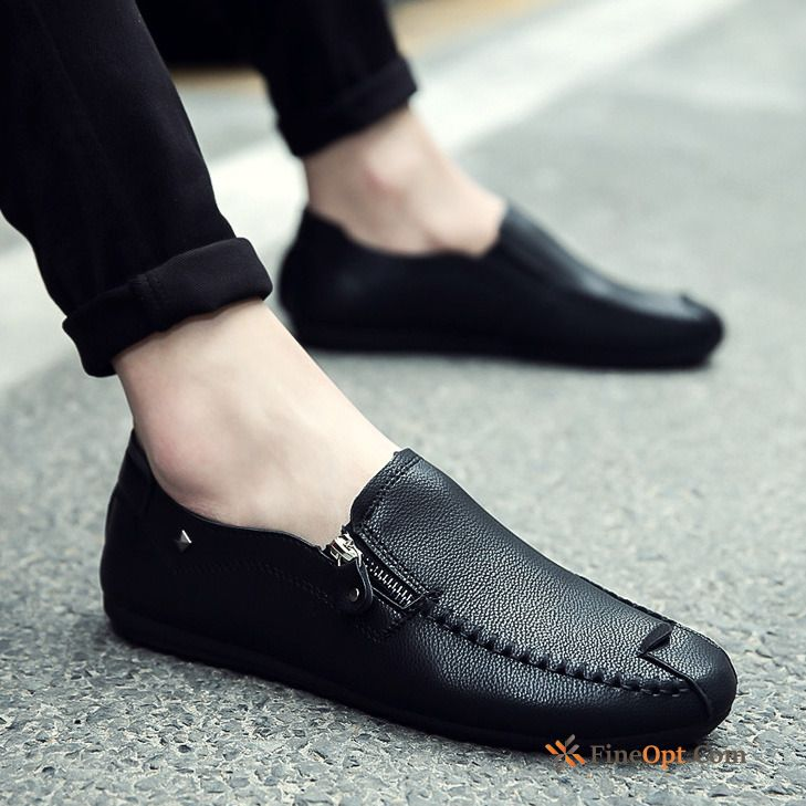 Leather Shoes Spring All-match Slip On Casual Men's New Loafers