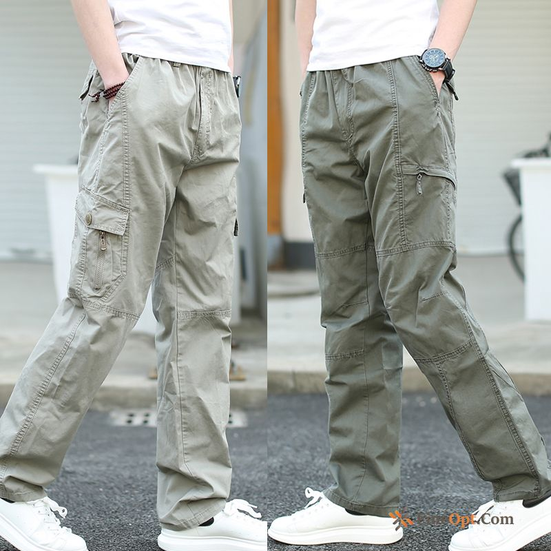 Leisure Cargo Pants Skinny Big Elastic New All Black Pants For Sale