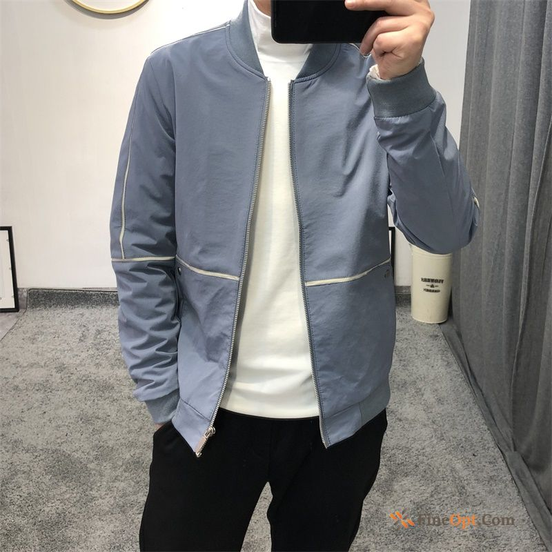 Leisure Slim Jacket Blue Europe New Youth Jacket