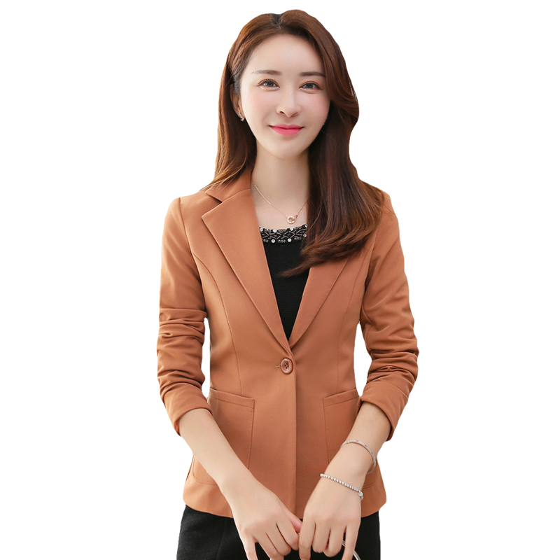 Leisure Suit Coat Slim Short Spring Long Sleeves Blazer Online