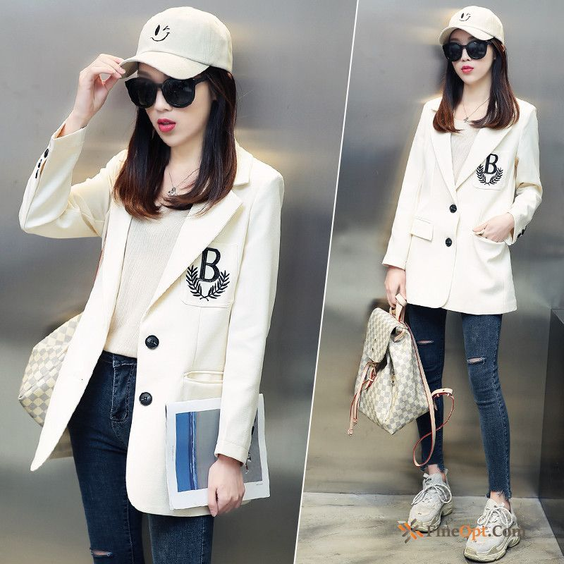 Leisure White Suit Coat Europe Spring Trend Blazer