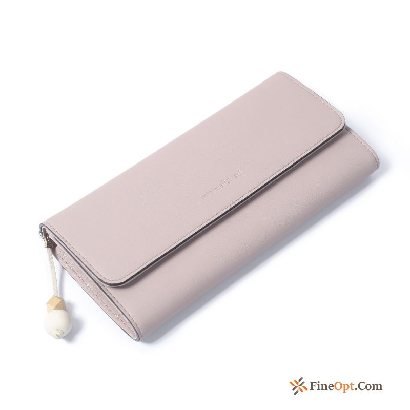 Long Section Student Tassel Two Fold All-match Clutch Bag High Capacity Earth Yellow Wallets