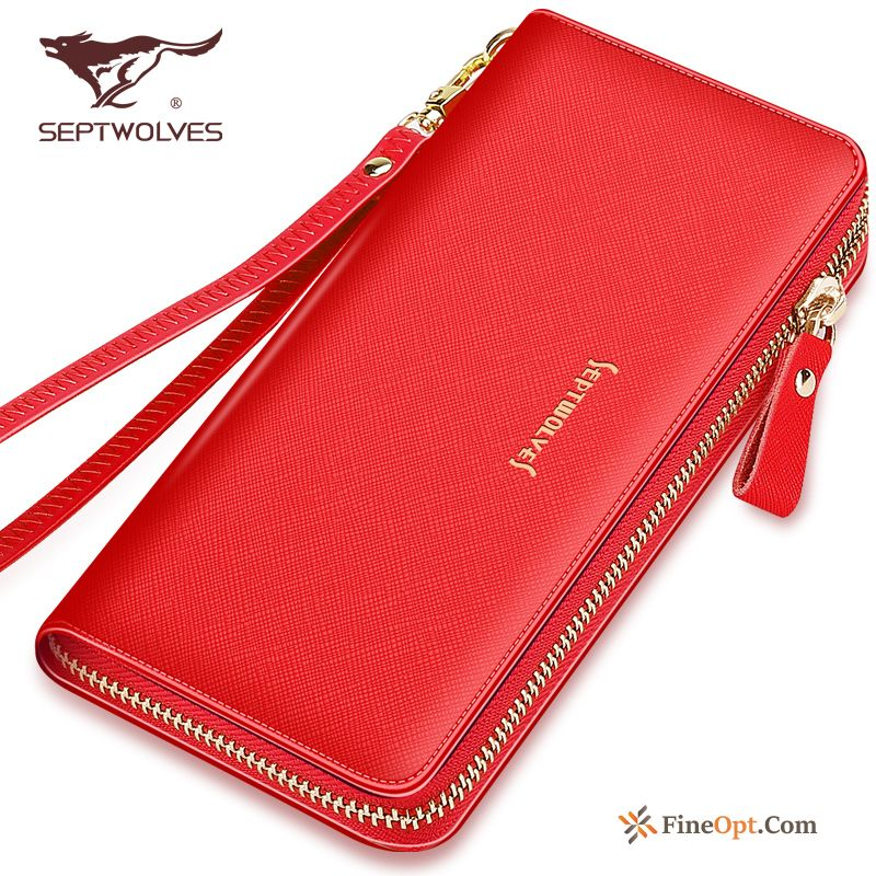 Long Section Women High Capacity Genuine Leather Clutch Wallet Beef Leather Wallets